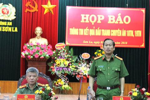 Sơn La họp báo vụ tiêu diệt 2 trùm ma túy ở Lóng Luông 2