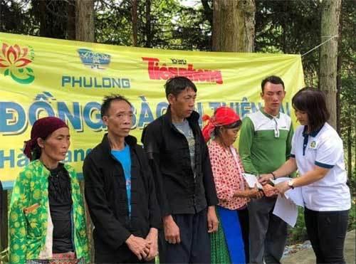 Địa ốc Phú Long hỗ trợ người dân vùng lũ Hà Giang