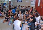 Trẻ em, người lớn nằm la liệt trên bồn hoa, sàn bệnh viện tránh nóng