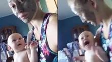 Mẹ đắp mặt nạ troll bé khiến dân mạng cười nghiêng ngả