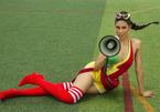 Á hậu Nguyễn Thị Loan tung bộ ảnh nóng bỏng cổ vũ World Cup