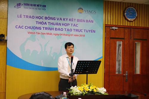 Trường ĐH Mở TPHCM và VIAGS hợp tác đào tạo trực tuyến