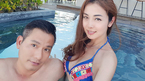 Jennifer Phạm diện bikini khoe dây chuyền kim cương chồng tặng