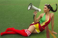 Loạt ảnh nóng bỏng của Nguyễn Thị Loan cổ vũ World Cup