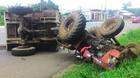 22 người thương vong sau cú tông giữa xe tải và máy cày