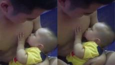 Ông bố cần mẫn cho con bú khiến chị em bỉm sữa ghen tị