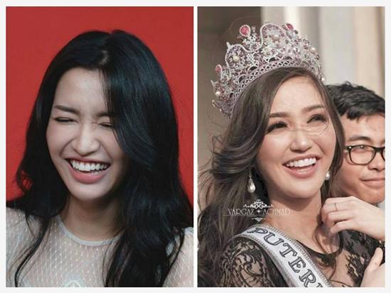 Bích Phương, Hoàng Thùy như 'chị em sinh đôi' với các Hoa hậu thế giới
