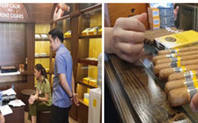 Kiểm tra 5 cửa hàng bán xì gà ở Hà Nội, thu giữ cả đống hàng dởm