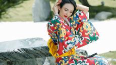 Hoa hậu Ngọc Diễm sặc sỡ với kimono Nhật Bản