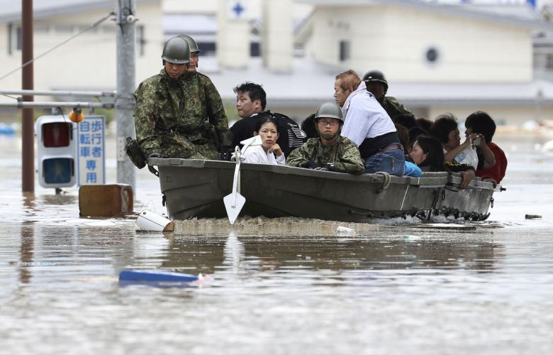 Nhật Bản,mưa lũ,sạt lở,thiệt mạng