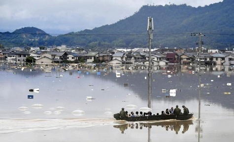 mưa lũ Nhật Bản