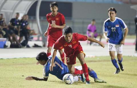 Video U19 Việt Nam 2-2 U19 Singapore