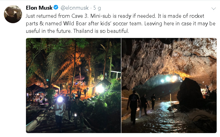 giải cứu đội bóng Thái,Elon Musk