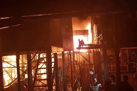 cháy ở Campuchia