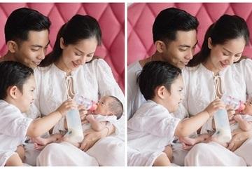 Khánh Thi lần đầu khoe ảnh cận mặt con gái mới sinh