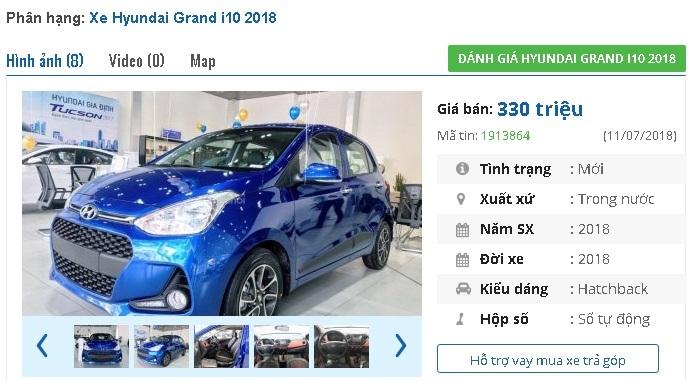 Hyundai Grand i10,Toyota Vios,ô tô bán chạy
