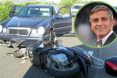 George Clooney bị ô tô đâm, hất lên không trung 6 mét