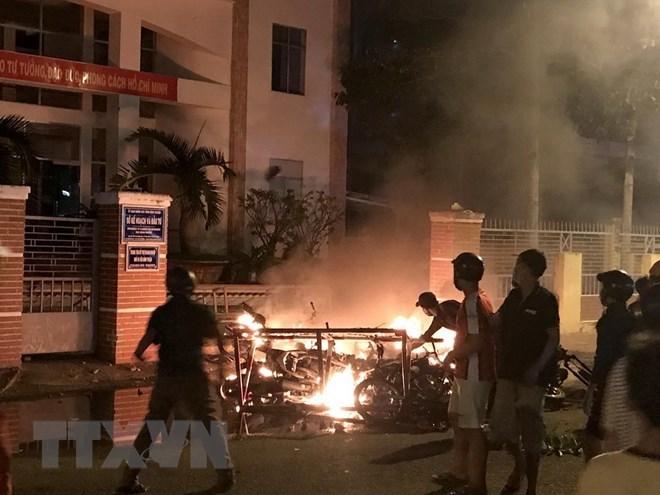 gây rối,bạo động,tụ tập đông người,biểu tình,Bình Thuận
