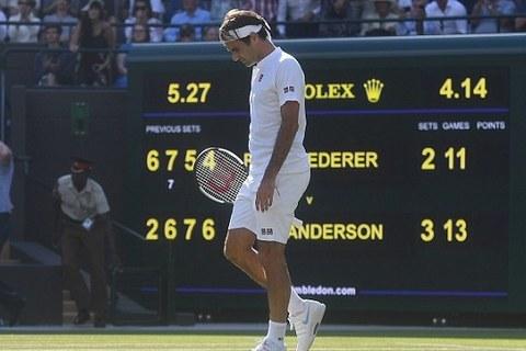 Federer 2-3 Anderson