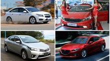 Những mẫu xe sedan từ 700 - 900 triệu được ưa chuộng nhất