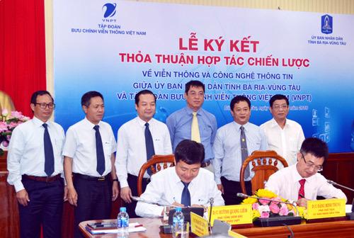VNPT và Bà Rịa-Vũng Tàu ký hợp tác chiến lược