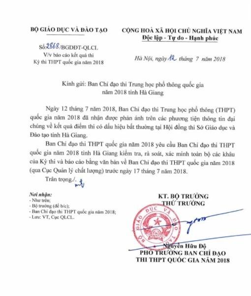 Nghi vấn điểm thi bất thường ở Hà Giang: 'Ho một tiếng cũng đã có biên bản'