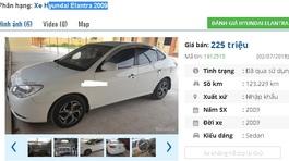 2 mẫu ô tô Hyundai cũ này được rao bán giá 200 triệu tại Việt Nam