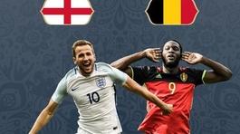 Xem trực tiếp trận Anh vs Bỉ ở đâu?