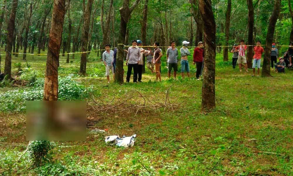 Nam thanh niên chết cháy trong rừng cao su