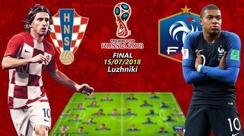 Xem trực tiếp chung kết Pháp vs Croatia ở đâu?