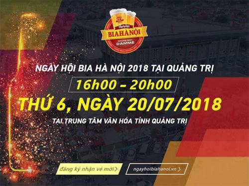 'Đếm ngược' đến Ngày hội Bia Hà Nội 2018 ở Quảng Trị