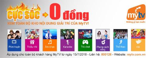 Truyền hình MyTV tăng kênh 'khủng', miễn phí kho VoD hấp dẫn