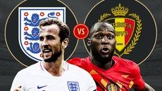 Đội hình ra sân trận Anh vs Bỉ, 21h ngày 14/7