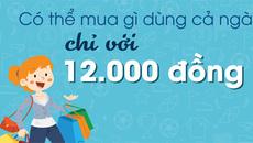 Với 12.000 đồng, bạn mua được gì để dùng cả ngày?