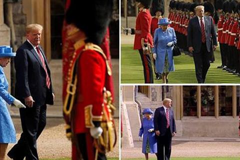 Ông Trump vi phạm quy tắc Hoàng gia khi diện kiến Nữ hoàng Anh
