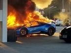 Siêu xe Lamborghini bị thiêu rụi vì một lý do... ngớ ngẩn
