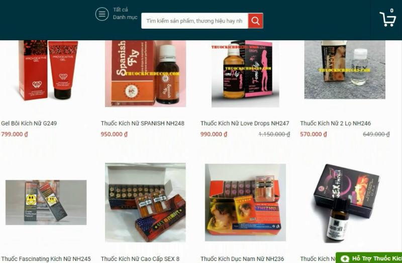 Mua thuốc kích dục dễ như mua rau ở Sài Gòn