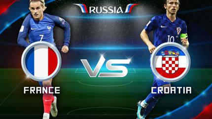 Link xem trực tiếp Pháp vs Croatia, 21h ngày 15/7