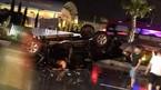 Quảng Ninh: Ôtô chỏng vó giữa phố, 1 người chết