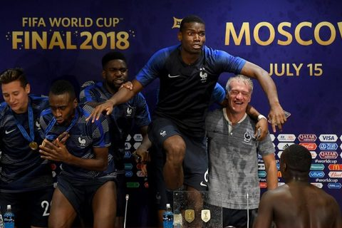 Video cầu thủ Pháp ăn mừng