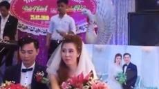 """Phản ứng của cô dâu chú rể khi chàng trai hát """"Tiễn em theo chồng"""""""
