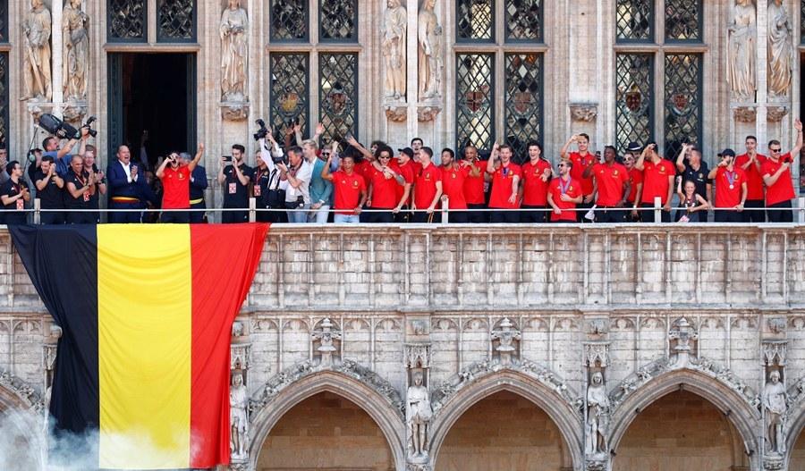 Dàn sao tuyển Bỉ được chào đón như nhà vô địch World Cup