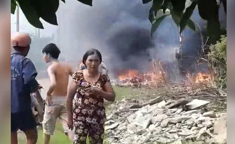 Nổ bình điện Củ Chi, 2 người bị thương nặng
