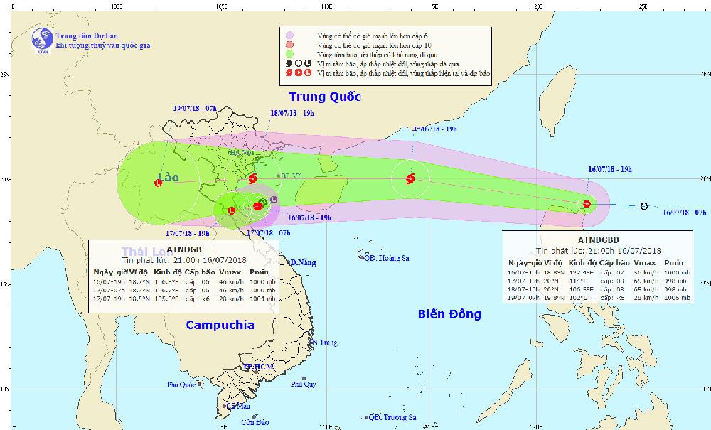 Dự báo thời tiết 17/7: Bão giật cấp 10 di chuyển nhanh, mưa to khắp nơi