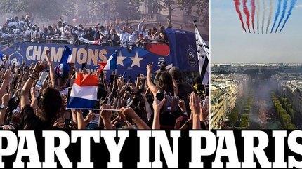 Pháp diễu hành chưa từng có mừng vô địch World Cup