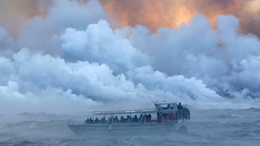 núi lửa,Hawaii,tàu du lịch,dung nham