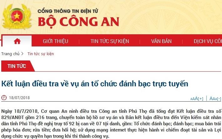 Phan Văn Vĩnh,Trung tướng Phan Văn Vĩnh,Nguyễn Thanh Hóa,Phan Sào Nam,Nguyễn Văn Dương,Rikvip,đánh bạc