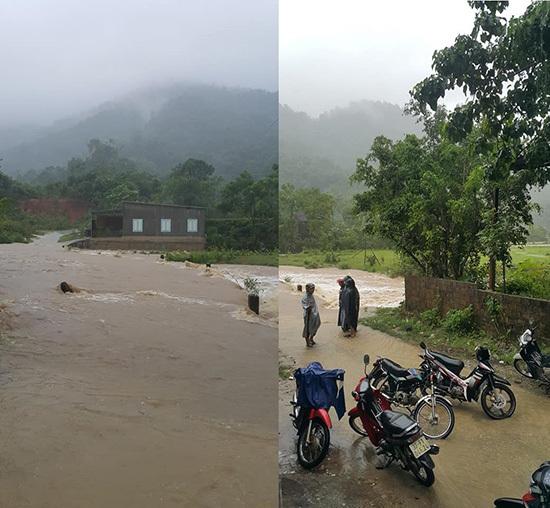 Mưa lớn sau bão số 3, Nghệ An nhiều nơi bị cô lập