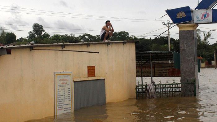 lũ lụt ở Hà Tĩnh,mưa lũ miền Trung,bão số 3