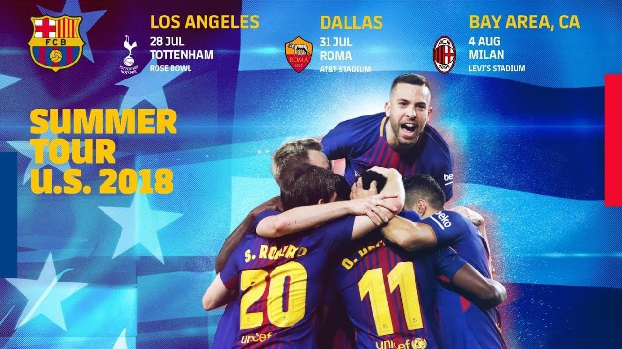 Lịch thi đấu giao hữu mùa Hè 2018 của Barcelona